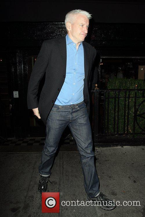 Leaves The Lion restaurant in West Village after...