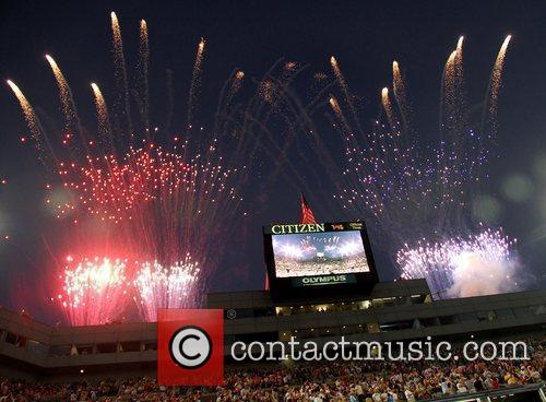 Atmosphere 2010 US Open Opening Night Ceremony at...