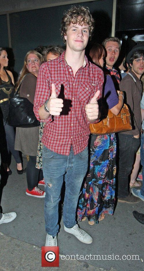 James McGuiness of The Wanted outside Whisky Mist...