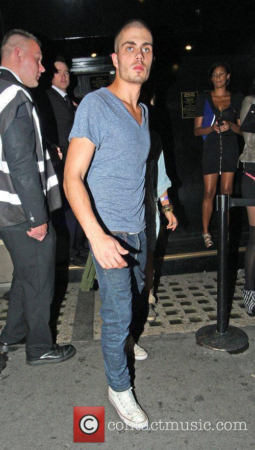 Max George of The Wanted outside Whisky Mist...