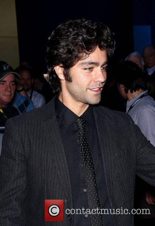 Adrian Grenier on the Blackberry stand at the...