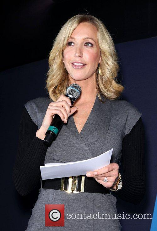 Lara Spencer on the Blackberry stand at the...