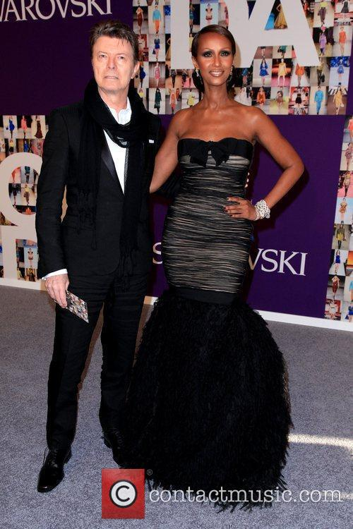 The often elusive Bowie and his wife attending a New York fashion awards show in 2010