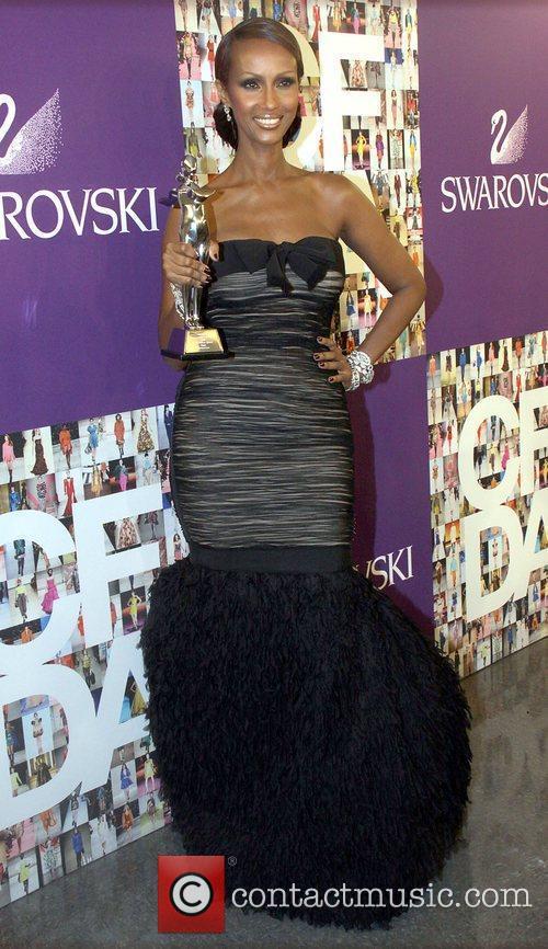 Iman attend the 2010 CFDA Fashion Awards at...