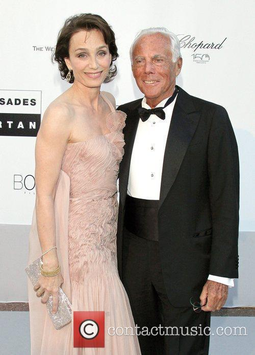 Kristin Scott Thomas and Giorgio Armani 2