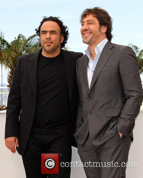 Javier Barden and Alejandro Gonzalez Inarritu  Cannes...