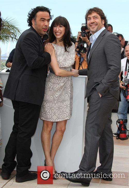 Maricel Alvarez, Javier Barden and Alejandro Gonzalez Inarritu...