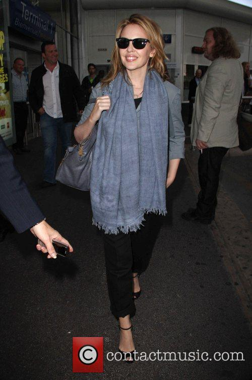 Arriving at Nice Airport for the 2010 Cannes...
