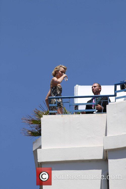 Eva Herzigova during a photo shoot at the...