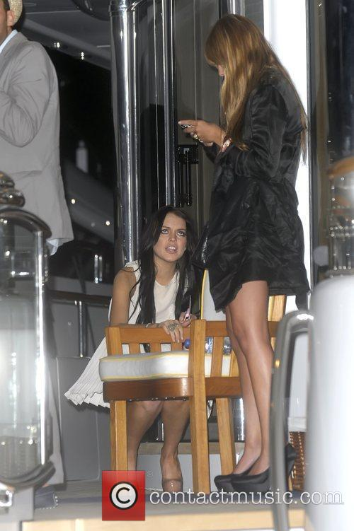 Lindsay Lohan at a private party on a...