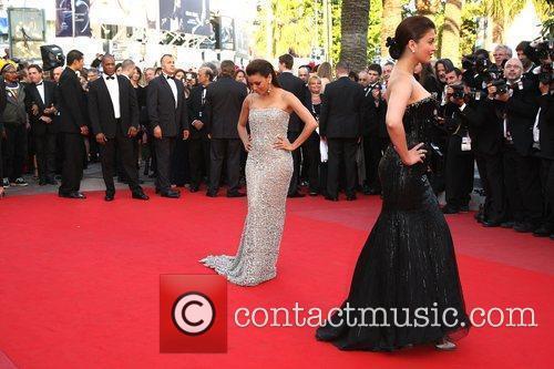 Eva Longoria Parker and Aishwarya Rai Bachchan 2010...