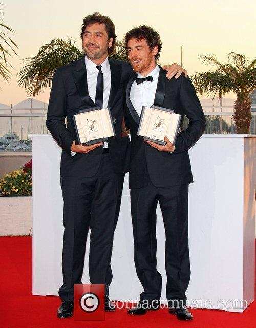Javier Bardem and Elio Germano