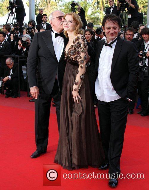 Nikita Mikhalkov, Nadezhda Mihalkova and Oleg Menshikov 2010...
