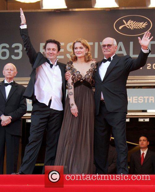 Oleg Menshikov, Nikita Mikhalkov and Nadezhda Mihalkova