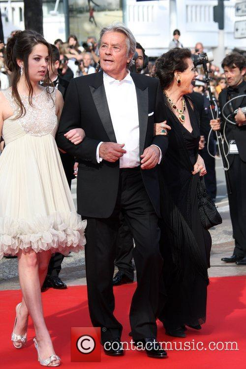 Alain Delon, Anouchka Delon and Claudia Cardinale