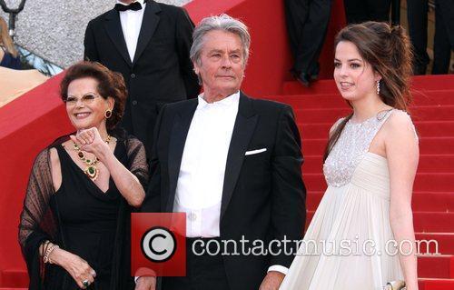 Alain Delon, Anouchka Delon and Claudia Cardinale 1