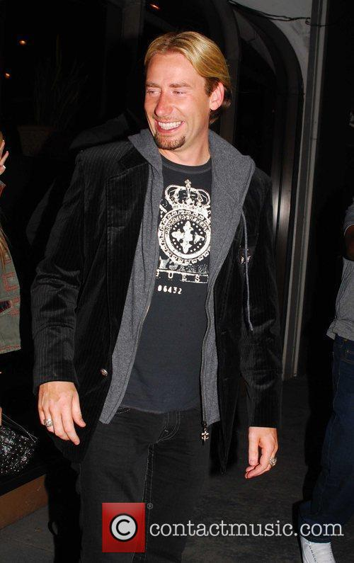 Chad Kroeger of Nickelback leaving Madeo Restaurant on...