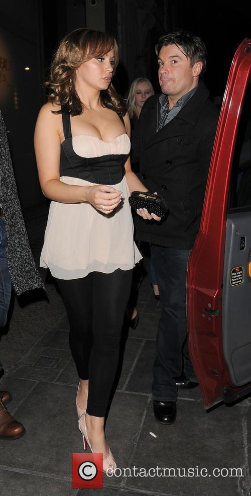 Chanelle Hayes enjoys a late night out with...