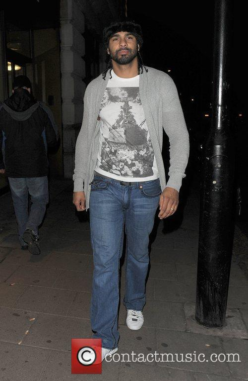 David Haye arriving at Nobu Berkeley restaurant.