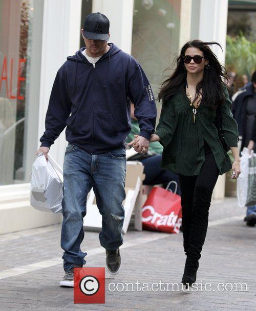Channing Tatum and Jenna Dewan leaving the Apple...