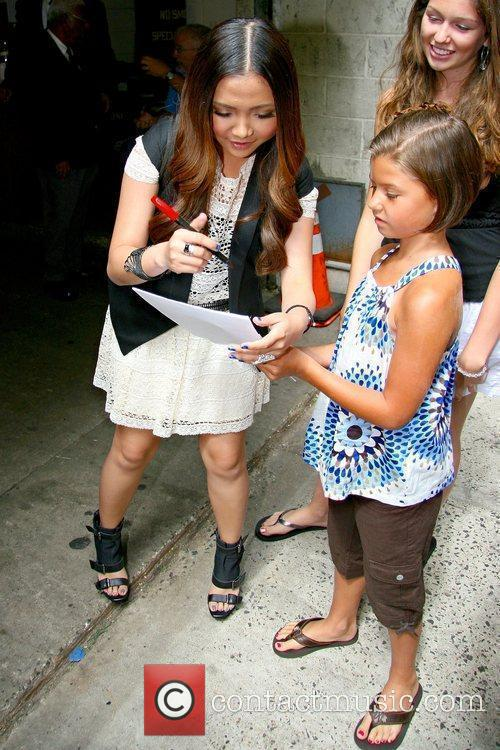 Charice aka Charice Pempengco greets fans outside ABC...