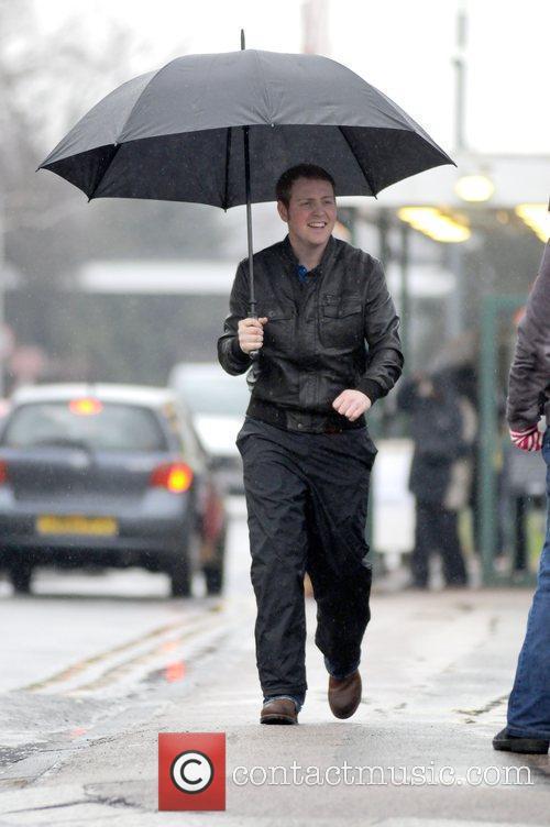 Eastenders actor Charlie Clements leaving Elstree Studios on...