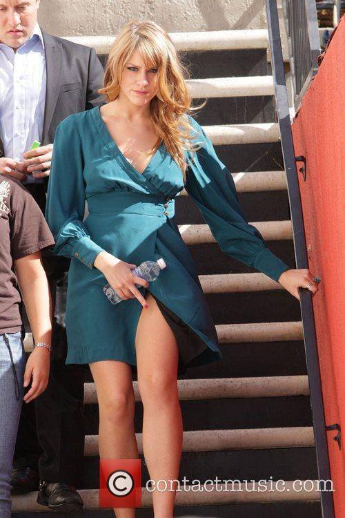 On the set of her new movie 'She...