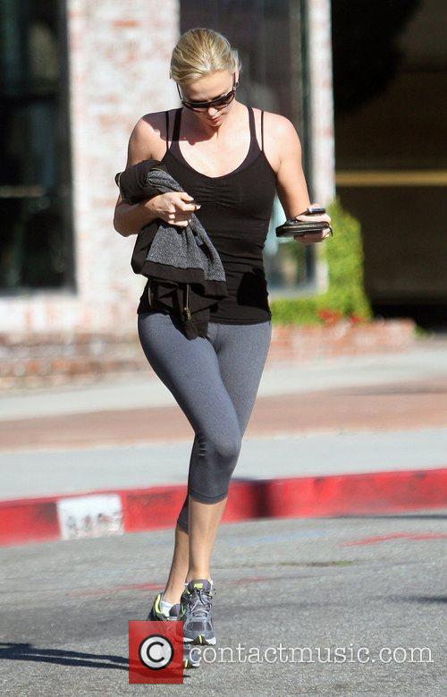 Charlize Theron seen running errands in West Hollywood...