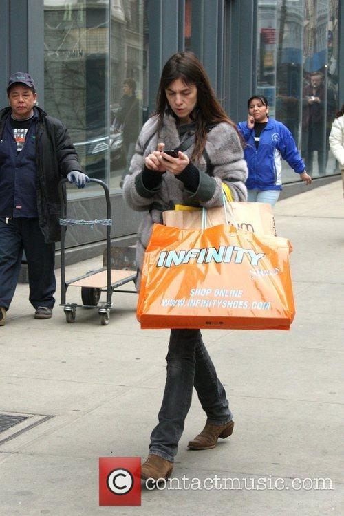 Charlotte Gainsbourg out shopping in Soho New York...