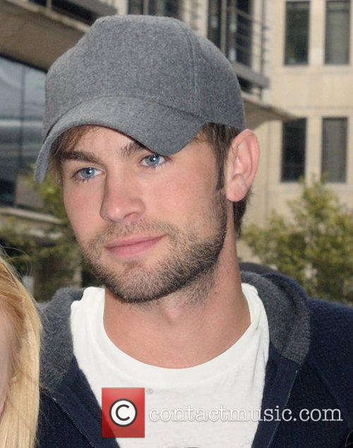Chase Crawford Celebrities outside the May Fair hotel...
