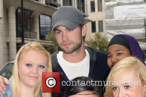 Chase Crawford with fans Celebrities outside the May...