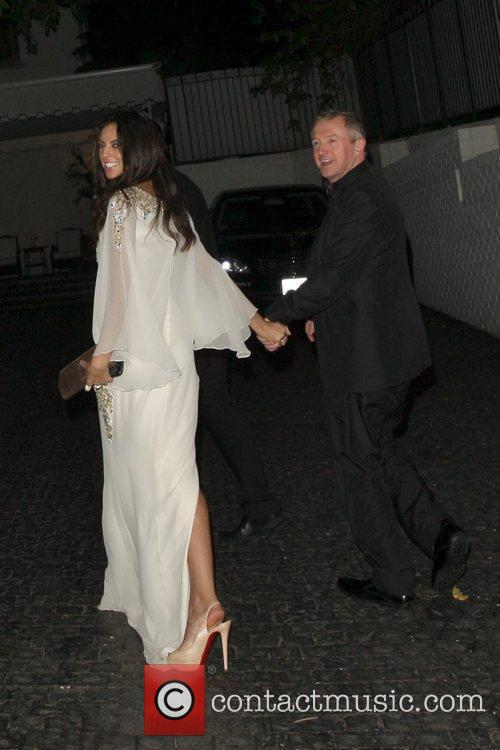 Terri Seymor and Louis Walsh arrive at Chateau...