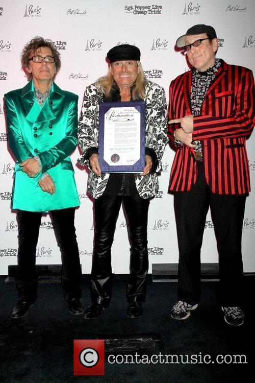 Tom Petersson, Robin Zander and Rick Nielsen of...
