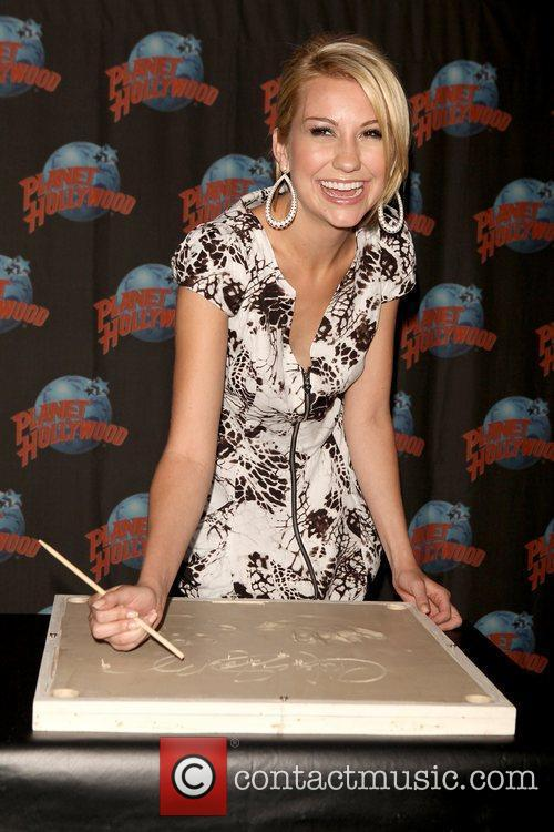 'Jonas L.A.' actress attends a hand print ceremony...