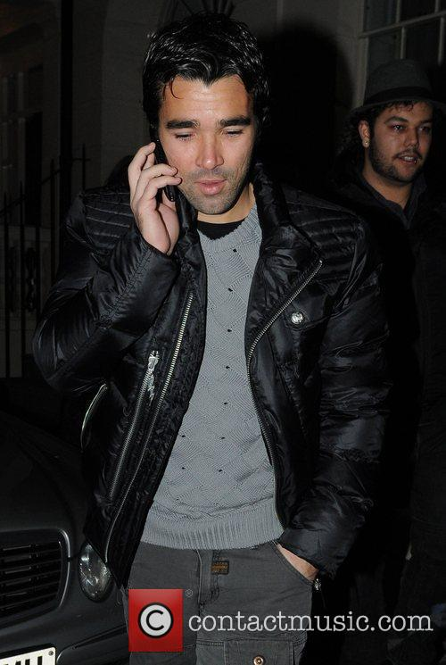 Deco leaving Whisky Mist after the Chelsea Football...