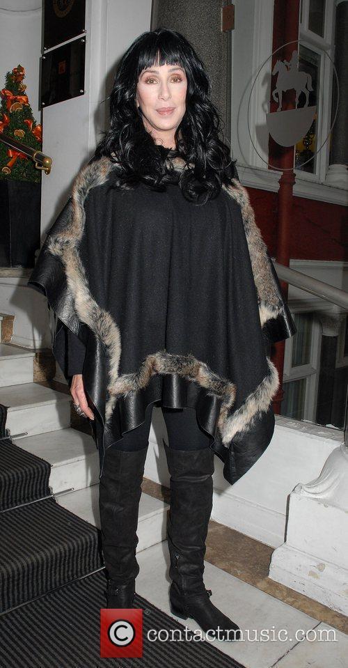 Singer Cher leaving her hotel London, England