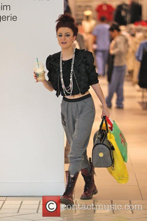 Cher Lloyd out shopping at the Beverly Centre....