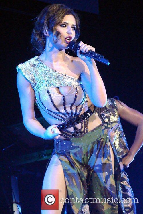 Performing at the O2 arena.