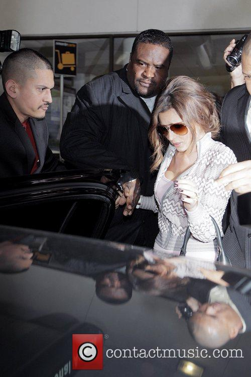 Cheryl Cole Arriving At Lax Airport On A Virgin Atlantic Flight From London Heathrow. 7