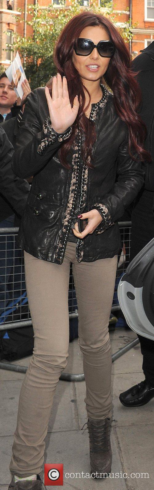Cheryl Cole at BBC Radio 2 Studios.