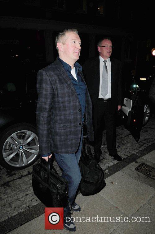 Louis Walsh arrives back at Birmingham hotel after...