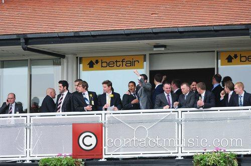Manchester United football team enjoy a day out...