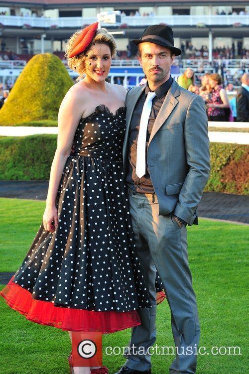 Cheryl Brady  Celebrities at Chester Races...
