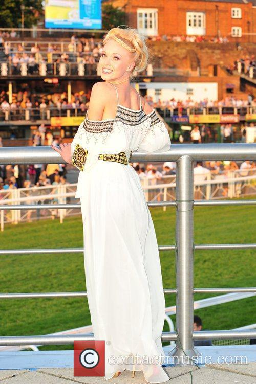 Theresa McQueen  Celebrities at Chester Races...