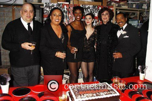 Backstage reception celebrating 'Chicago' as the 6th longest-running...