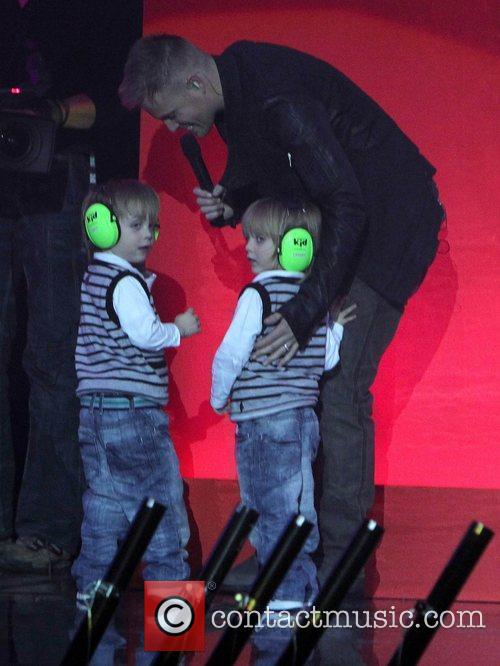 Nicky Byrne of Westlife and his children The...