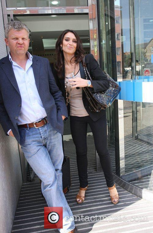 Adrian Chiles and Christine Bleakley outside the ITV...