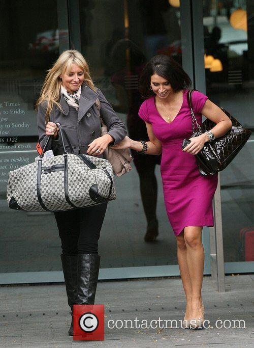 Christine Bleakley leaving a building on the South...