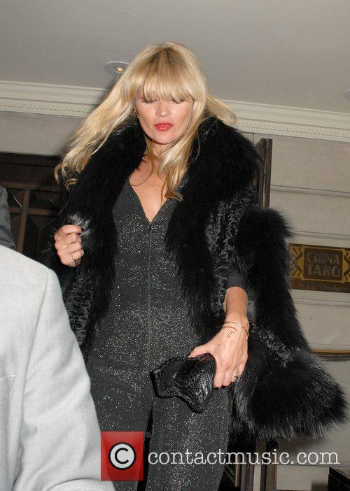 Kate Moss leaving China Tang chinese restaurant in...