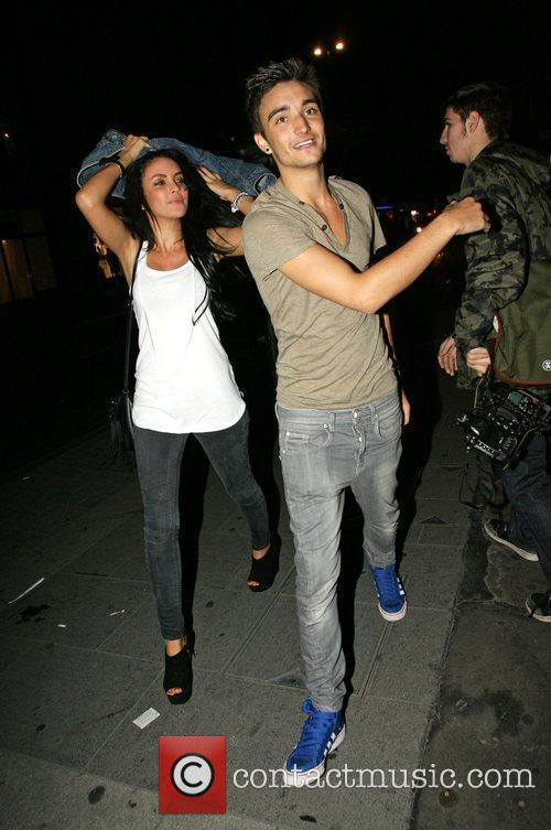 Tom Parker from The Wanted leaving China Whites...